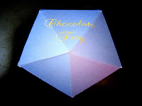 pentagonal chocolate frog box
