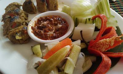 "Having lunch at ""Bambu Hotel"" in Battambang, Cambodia"