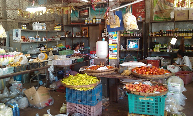 Old shop in Sawang Dean Din in North-East Thailand