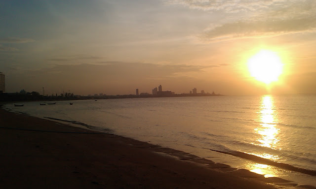 Sunset in Pattaya, Thailand