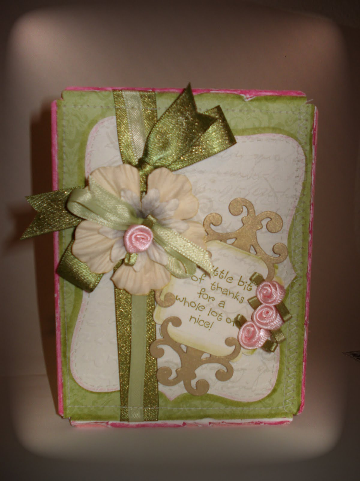 Marias Handmade Cards Handmade Card To Say Thank You