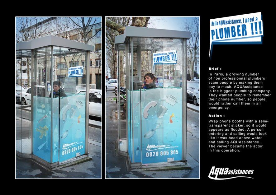 Aquassistance plumber sticker advertisement