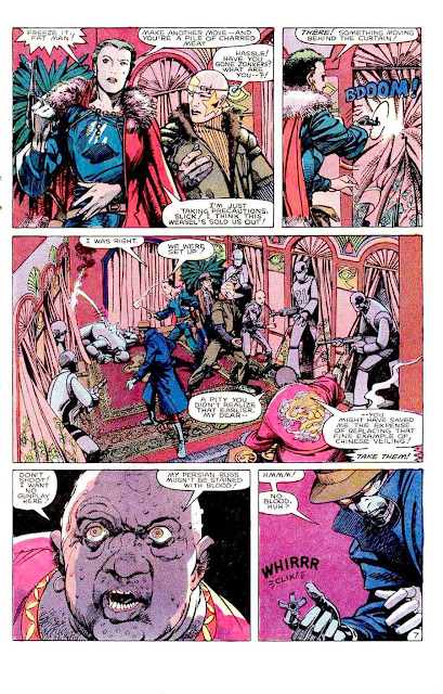 Machine Man v2 #2 marvel 1980s comic book page art by Barry Windsor Smith