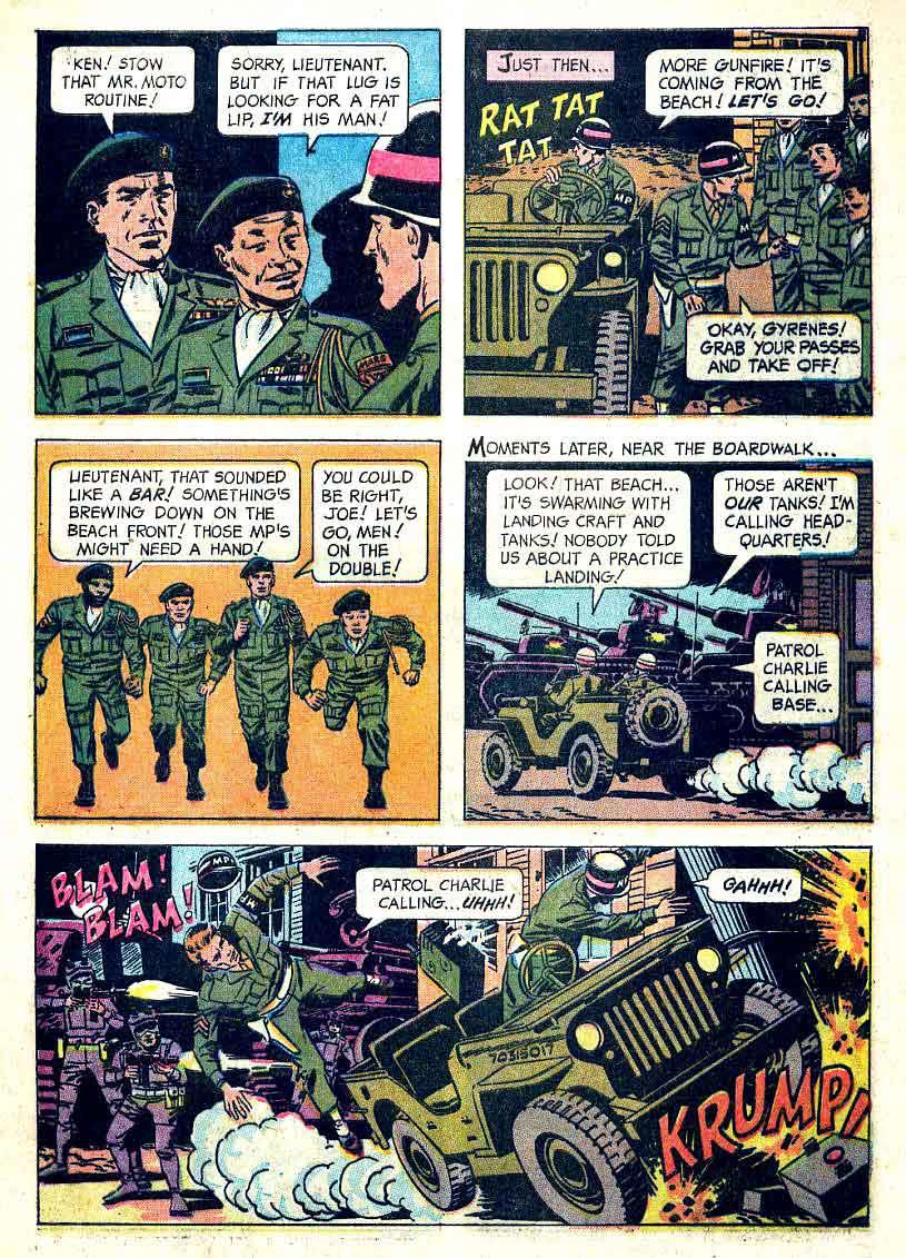 Total War v1 #1 - Wally Wood gold key 1960s war comic book page art