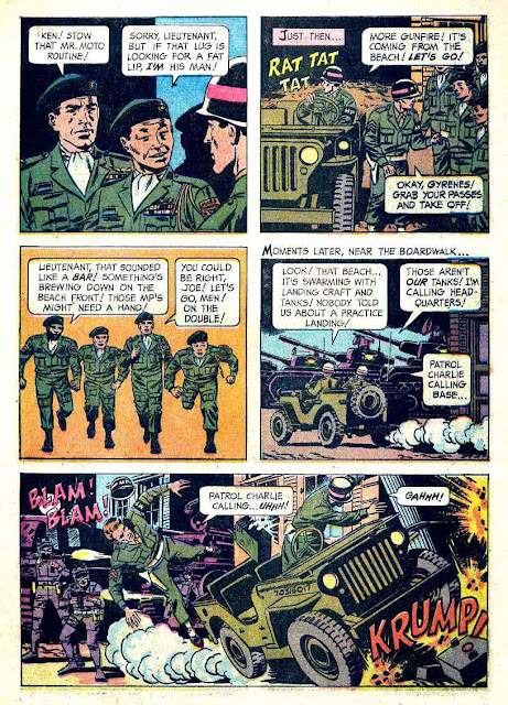 Total War v1 #1 - Wally Wood gold key 1960s war comic book page art