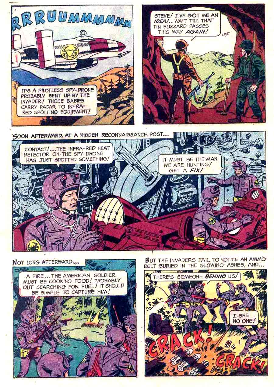 Mars Patrol Total War v1 #1 - Wally Wood gold key war silver age 1960s comic book page art