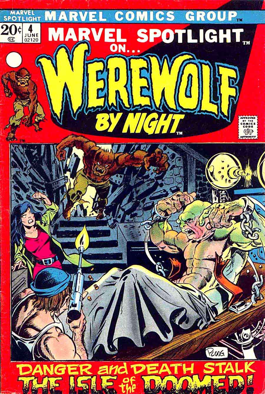 Marvel Spotlight v1 #4 Werewolf by Night marvel comic book cover art by Mike Ploog