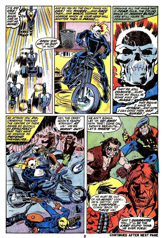 Marvel Spotlight v1 #6 Ghost Rider marvel comic book page art by Mike Ploog