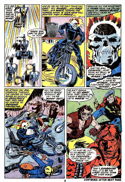 Marvel Spotlight v1 #6 Ghost Rider marvel comic book page art by Mike Ploog