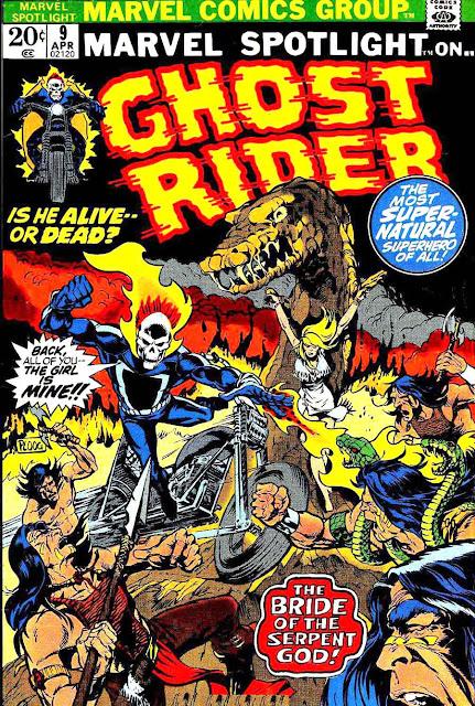 Marvel Spotlight v1 #9 Ghost Rider marvel comic book cover art by Mike Ploog