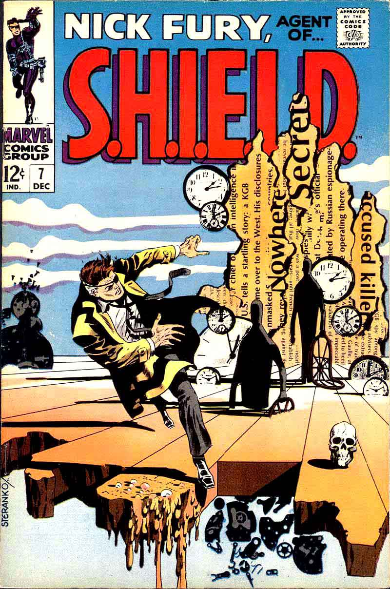 Nick Fury Agent of Shield v1 #7 1960s marvel comic book cover art by Jim Steranko
