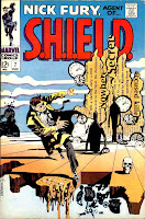 Nick Fury Agent of Shield v1 #7 1960s marvel comic book cover art by Jim Steranko