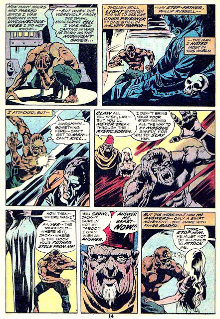 Werewolf by Night v1 #13 1970s marvel comic book page art by Mike Ploog