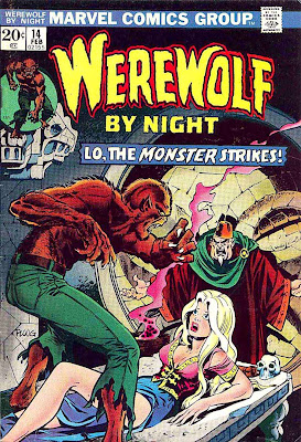 Werewolf by Night v1 #14 1970s marvel comic book cover art by Mike Ploog