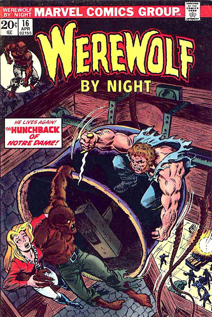 Werewolf by Night v1 #16 1970s marvel comic book cover art by Mike Ploog