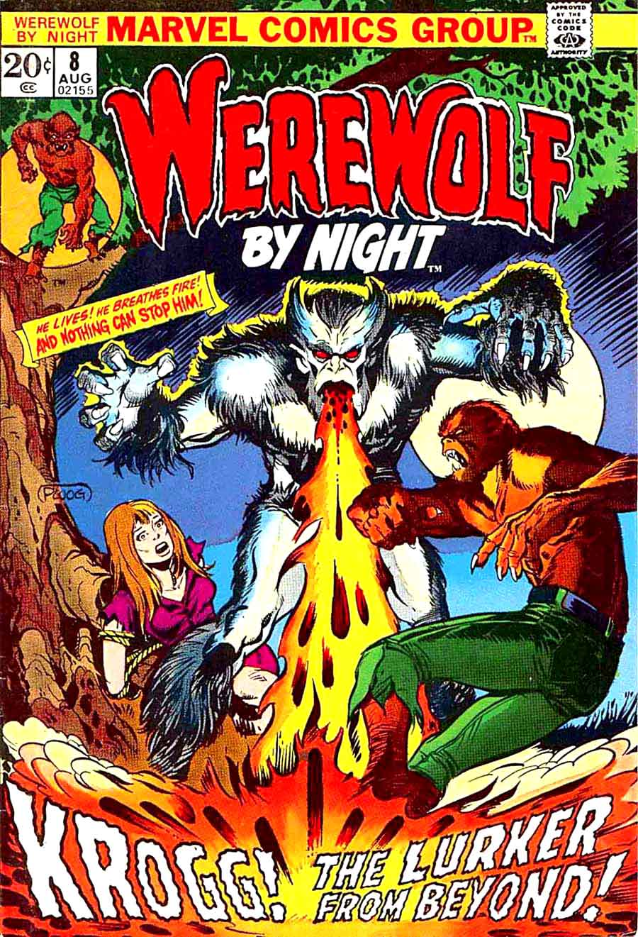 Werewolf by Night v1 #8 1970s marvel comic book cover art by Mike Ploog