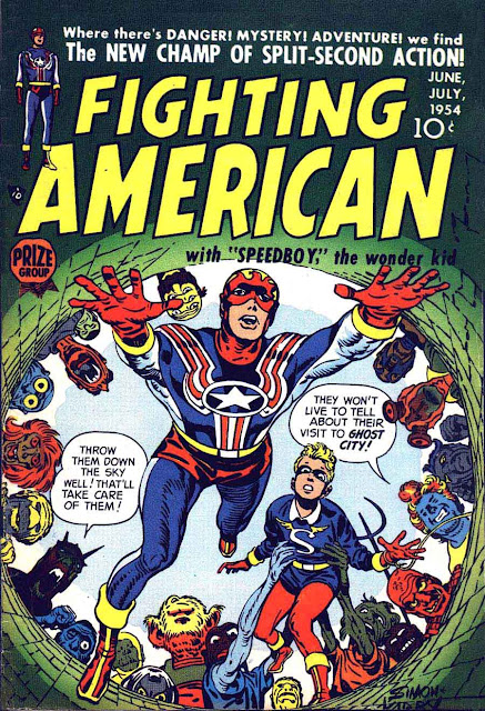 Fighting American v1 #2 harvey comic book cover art by Jack Kirby