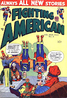 Fighting American v1 #6 harvey comic book cover art by Jack Kirby