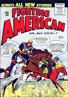 Fighting American v1 #7 harvey comic book cover art by Jack Kirby