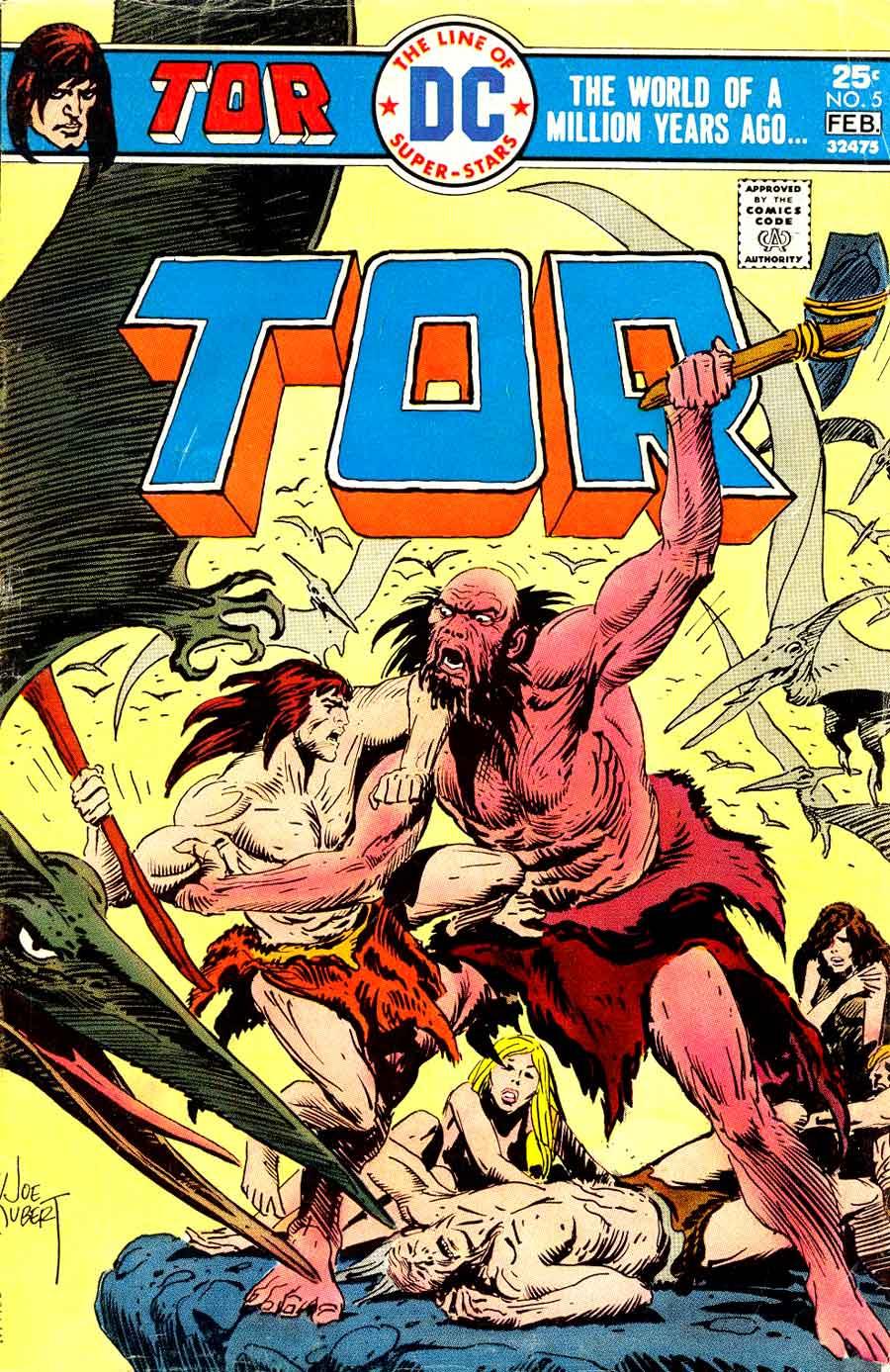 Tor v2 #5 dc bronze age comic book cover art by Joe Kubert