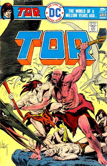 Tor v2 #5 dc bronze age comic book cover art by Joe Kubert