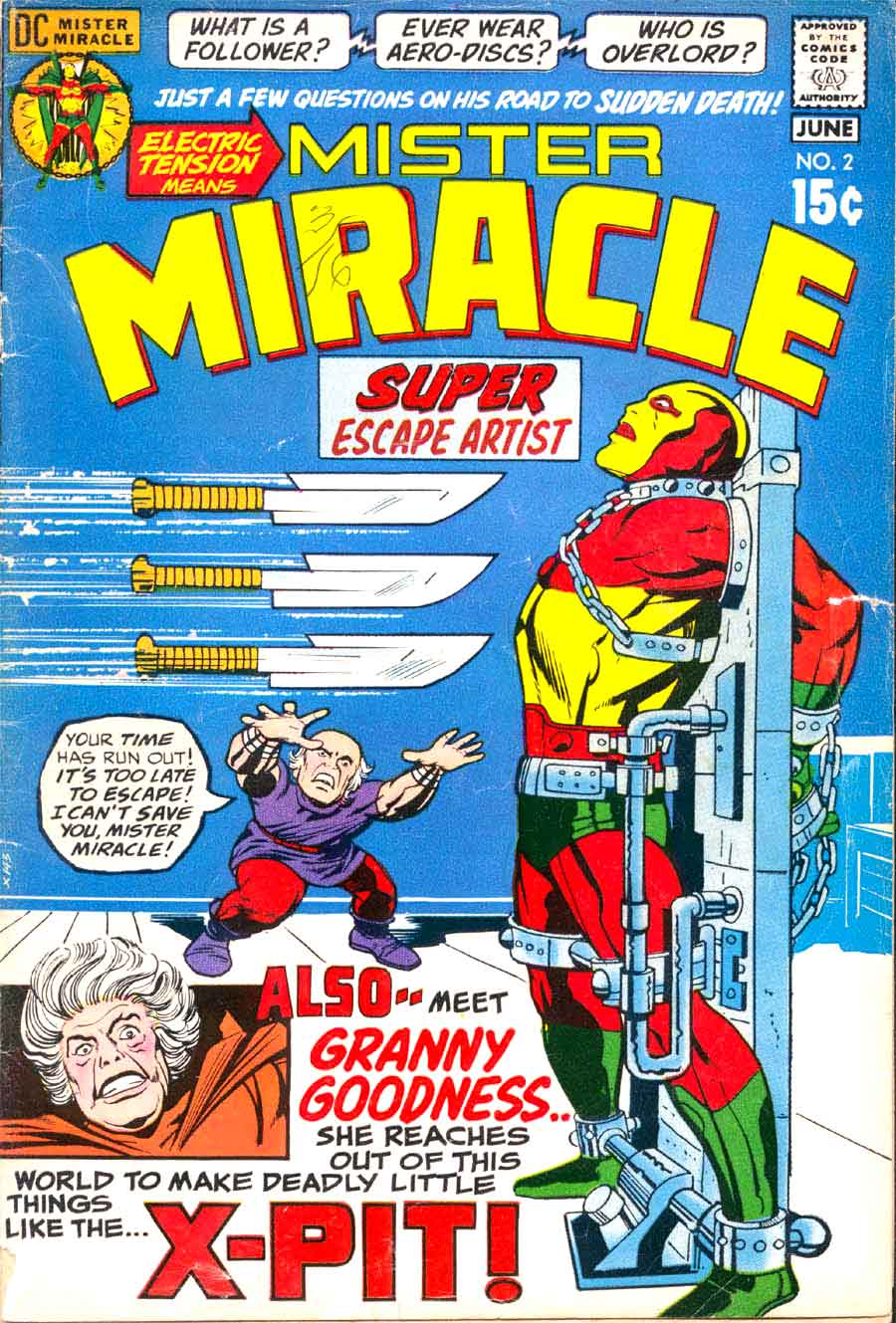 Mister Miracle v1 #2 dc 1970s bronze age comic book cover art by Jack Kirby