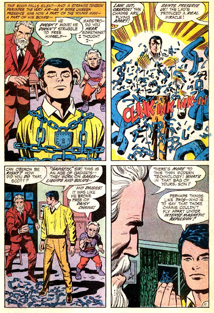 Mister Miracle v1 #1 dc 1970s bronze age comic book page art by Jack Kirby