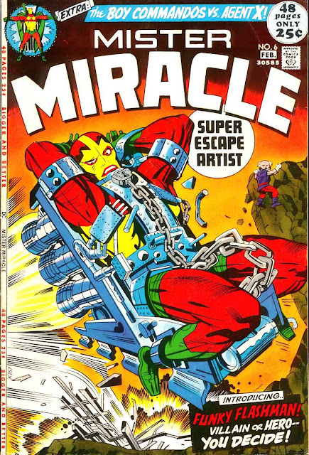 Mister Miracle v1 #6 dc 1970s bronze age comic book cover art by Jack Kirby