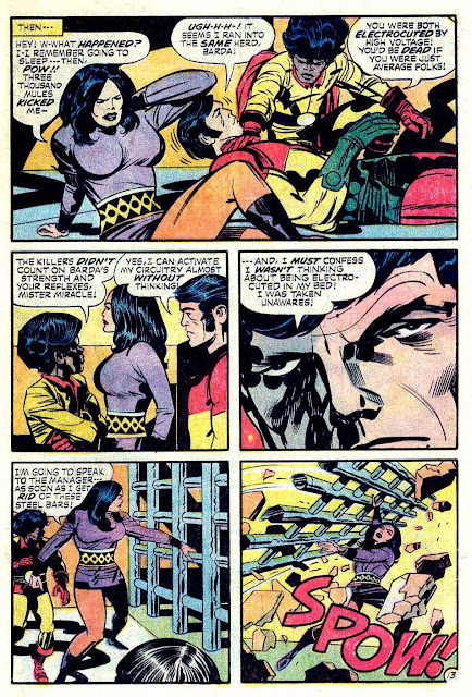 Mister Miracle v1 #17 dc bronze age comic book page art by Jack Kirby