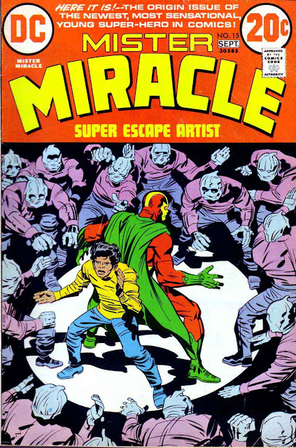 Mister Miracle v1 #15 dc bronze age comic book cover art by Jack Kirby