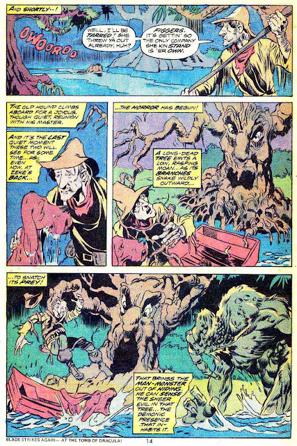 Man-Thing v1 #9 marvel comic 1970s bronze age comic page art by Mike Ploog
