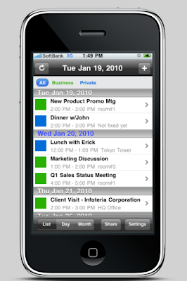 calender app iphone screenshot