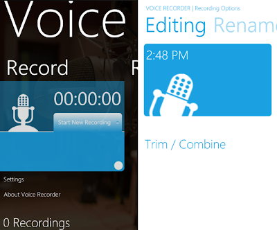 voice recorder app for WP7
