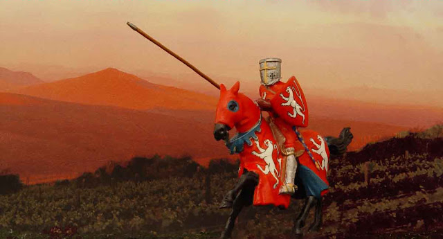 Simão de Montfort, conde de Leicester, filho do chefe da Cruzada contra os cátaros. Reconstituição hodierna. As Cruzadas
