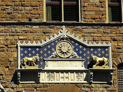 Palácio da Signoria, detalhe, Florença, a Cidade Medieval