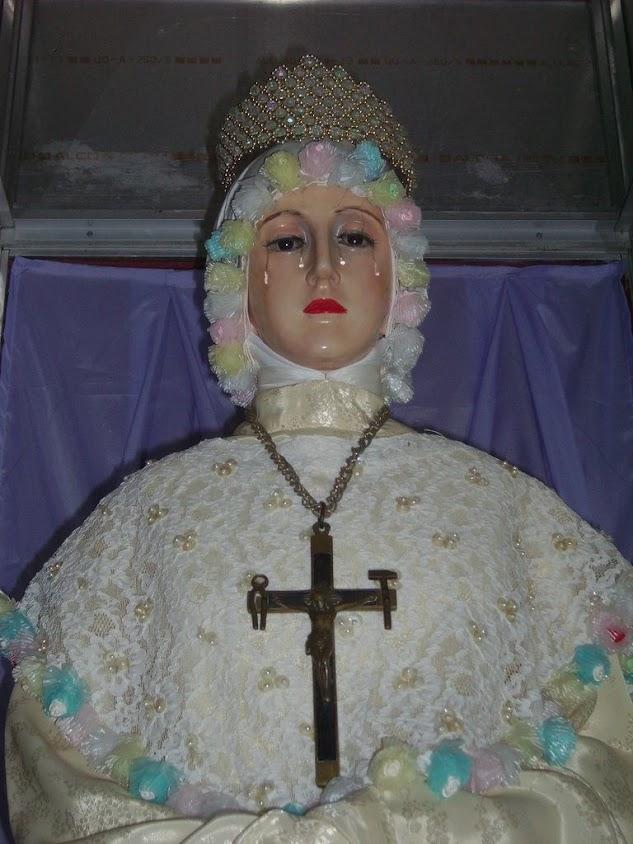 La Salette, Nossa Senhora ficou em pé e falou