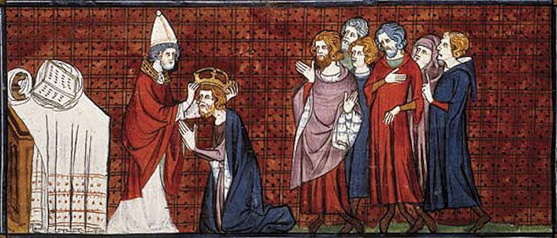 Carlos Magno, coroado por São Leão III