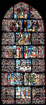 Vitral gótico, Saint Remy, Reims