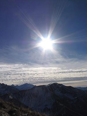 La Salette: o sol sobre o local da aparição