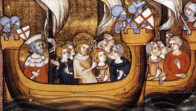 Sao Luis partindo para as Cruzadas