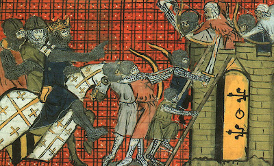Godofredo de Bouillon dirigie o assedio