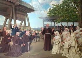 Inúmeros missionários derramaram até a última gota de seu sangue pela conversão da China. O sacrifício não foi em vão e hoje rende frutos.Mártires franciscanos de China, 9-7-1900