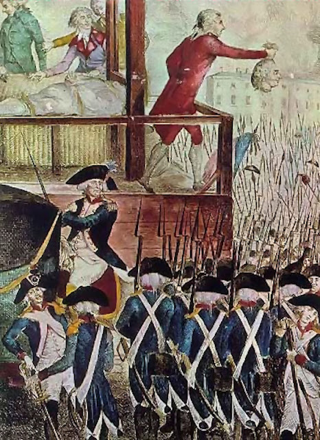 Execução do rei Luis XVI na Revolução Francesa