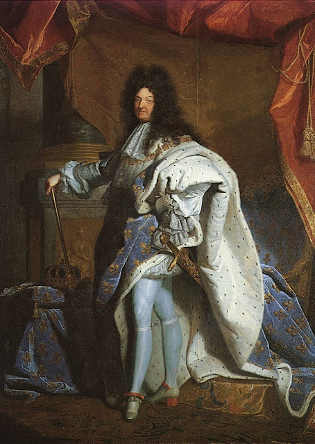Luis XIV, rei centralizador afastou-se da harmonia social medieval, Hyacinthe Rigaud