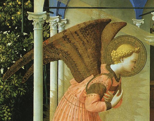 Anunciação, Museu do Prado, Madri. Fra Angélico. São Gabriel