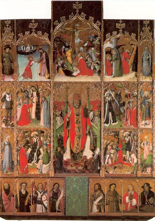Retábulo de São Pedro. Bernardo Martorell (1400c.-1452). Museu diocesano de Girona, Espanha.