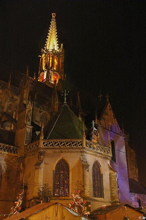 Igreja de Thann na noite