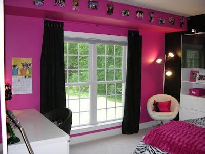 hot+pink+black+zebra+teen+bedroom