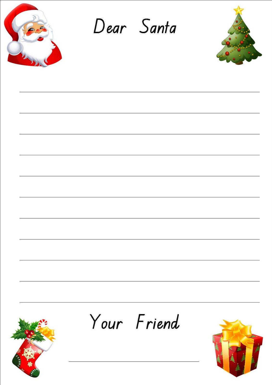 Free Printable Letter To Santa Paper