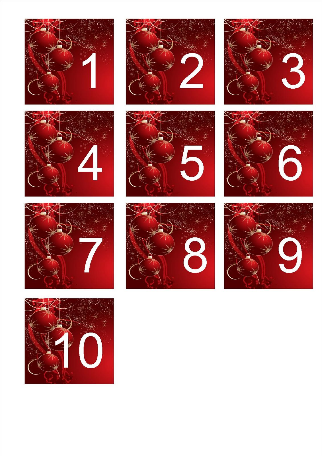 Free Printable Christmas Number Sequencing